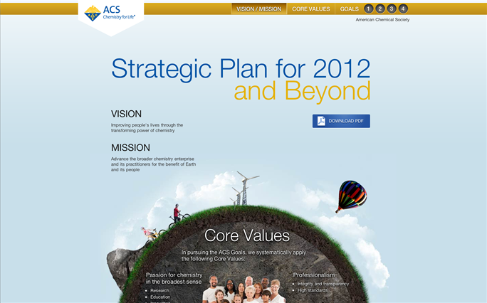 Screenshot for ACS 2012 Strategic Plan